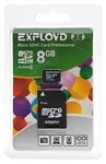 EXPLOYD microSDHC Class 4 8GB + SD adapter