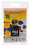 EXPLOYD microSDHC Class 10 16GB + SD adapter