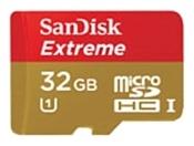 Sandisk Extreme microSDHC Class 10 UHS Class 1 32GB