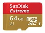 Sandisk Extreme microSDXC Class 10 UHS Class 1 80MB/s 64GB