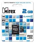 Mirex microSD Class 4 2GB + SD adapter