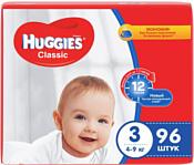 Huggies CLASSIC 3 (4-9 кг) 96 шт