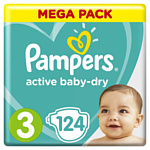 Pampers Active Baby-Dry 3 Midi (6-10 кг) 124 шт
