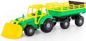 Полесье Алтай трактор с прицепом №2 и ковшом 35363