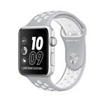Apple Watch Nike+ 38mm Silver with Flat Silver/White Nike Band (MNNQ2)