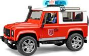 Bruder Land Rover Defender Station Wagon fire department 02596