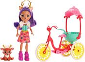 Enchantimals Велосипедисты с питомцем и транспортным средством GJX30