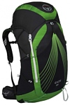 Osprey Exos 58 black/green (bassalt black)