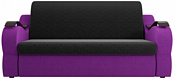 Лига диванов Меркурий 100348 100 см (микровельвет, черный/фиолетовый)