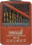 Yourtools HSS-TiN, по металлу 19 предметов