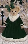 Bearington Мишка в зеленом платье с бантом (36 см) (173182)