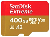 SanDisk Extreme microSDXC Class 10 UHS Class 3 V30 A2 160MB/s 400GB + SD adapter