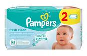 Pampers Fresh Clean Duo (2х64шт)