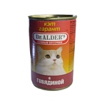 Dr. Alder (0.4 кг) 24 шт. КЭТ ГАРАНТ мясо кусочки в желе Для домашних кошек