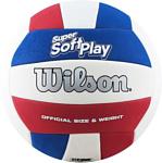 Wilson Super Soft Play Volleyball (5 размер, красный/белый/синий)