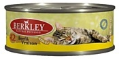 Berkley (0.1 кг) 1 шт. Паштет для кошек #12 Говядина с олениной