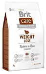 Brit (3 кг) Care Weight Loss Rabbit & Rice
