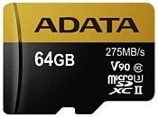 ADATA Premier ONE microSDXC UHS-II U3 Class 10 64GB + SD adapter