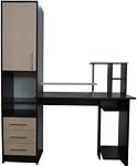 Компас мебель КС-003-21 (венге темный/дуб молочный)