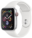 Apple Watch Series 4 GPS + Cellular 44mm Aluminum Case with Sport Band