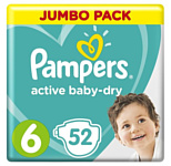 Pampers Active Baby 6 Extra Large (52 шт)