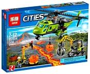 Lepin Cities 02004 Грузовой вертолет исследователей вулкана аналог Lego 60123