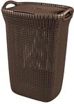 Keter Knit Laundry Hamper 57л (темно-коричневый)