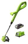 Greenworks 2101207ua 24V G24LT30 Basic, с АКБ и ЗУ