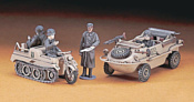 Hasegawa Автомобиль-амфибия и мотоцикл Schwimmwagen / Kettenkrad