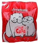 For Cats с ароматом клубники 8л