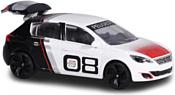 Majorette Racing Cars 212084009 Peugeot 308 Racing Cup (белый/черный)