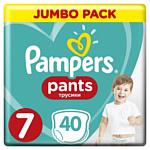 Pampers Pants 7 (17+ кг), 40 шт