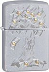 Zippo Satin Chrome Money Tree Design 29999