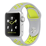 Apple Watch Nike+ 38mm Silver with Flat Silver/Volt Nike Band (MNYP2)