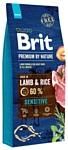 Brit (15 кг) Premium by Nature Sensitive Lamb & rice