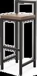 Millwood СДН-6 Крам (дуб темный/металл черный)