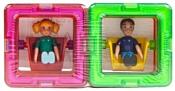 Magformers 713123 Квадраты 10 + Мальчик + Девочка