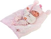 Llorens Малышка с розовой подушкой 63556
