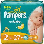 Pampers New Baby 2 Mini (3-6 кг) 27шт