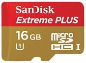 Sandisk Extreme PLUS microSDHC Class 10 UHS Class 1 80MB/s 16GB