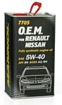 Mannol O.E.M. for Renault Nissan metal 5W-40 4л
