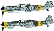 "Hasegawa Messerschmitt Bf109G-6 ""Finnish Air Force Aces"" 2 kits"