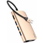 USB 3.1 hub 3 порта + USB Type-C + HDMI + RJ-45