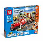 Lepin Cities 02039 Красный товарный поезд аналог Lego 3677