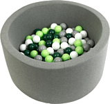 Misioo 100x30 300 шаров (серый)