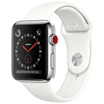 Apple Watch Series 3 Cellular 38mm Stainless Steel Case with Sport Band