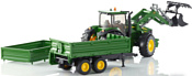 Bruder John Deere 7930 with frontloader and trailer 03055
