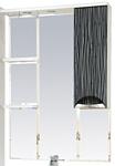 Misty Зеркальный шкаф Лорд - 75 (черный/белый)