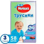 Huggies Трусики-подгузники 3 (7-11 кг) для мальчиков (58 шт)