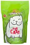 For Cats с ароматом зеленого чая 4л